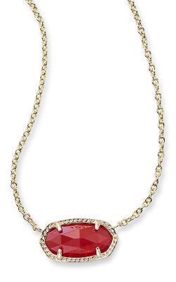 Kendra Scott Necklaces Elisa Gold Ruby Red product image