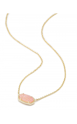 Kendra Scott Necklaces Elisa Gold Light Pink Drusy product image