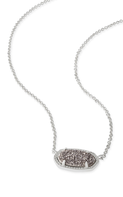 Kendra Scott Necklaces Elisa Rhodium Platinum Drusy product image