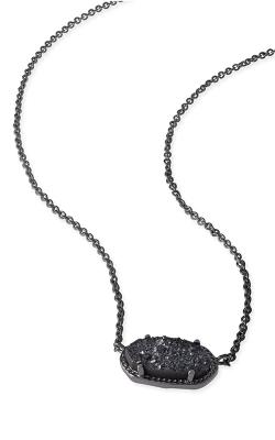 Kendra Scott Necklaces Elisa Gunmetal Black Drusy product image