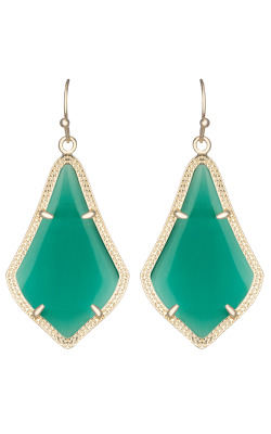 Kendra Scott Earrings Alex Gold Emerald Catseye product image