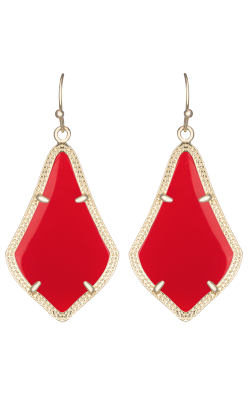 Kendra Scott Earrings Alex Gold Bright Red product image