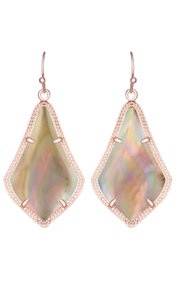 Kendra Scott Earrings Alex Rose Gold Brown MOP product image