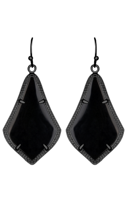 Kendra Scott Earrings Alex Gunmetal Black Opaque Glass product image