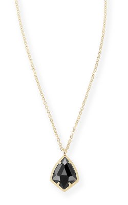 Kendra Scott Necklaces Cory Gold Black Opaque Glass product image