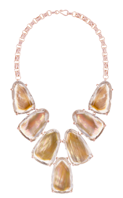 Kendra Scott Necklaces Harlow Rose Gold Brown MOP product image