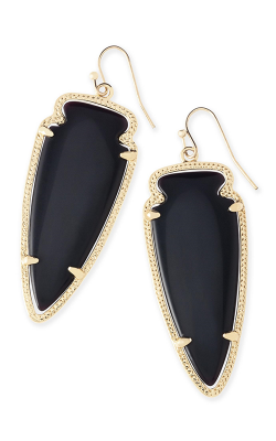 Kendra Scott Earrings Skylar Gold Black product image