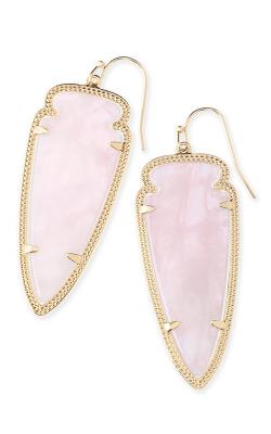 Kendra Scott Earrings Skylar Gold Rose Quartz product image