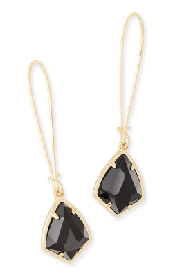 Kendra Scott Earrings Carinne Gold Black product image