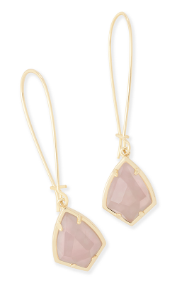 Kendra Scott Earrings Carinne Gold Rose Quartz product image