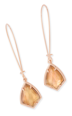 Kendra Scott Earrings Carinne Rose Gold Brown MOP product image