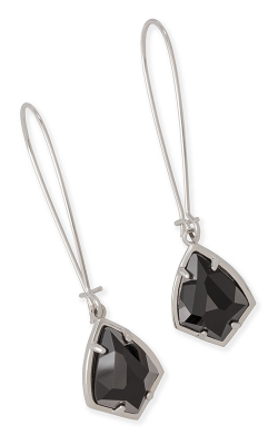 Kendra Scott Earrings Carinne Silver Black MOP product image