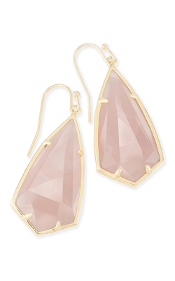 Kendra Scott Earrings Carla Gold Rose Quartz product image