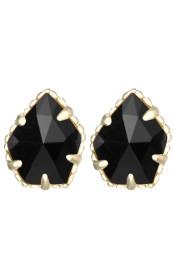 Kendra Scott Earrings Tessa Gold Black product image