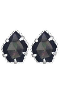 Kendra Scott Earrings Tessa Rhodium Black MOP product image