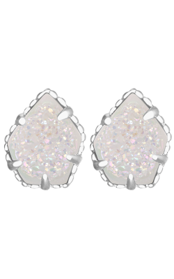 Kendra Scott Earrings Tessa Rhodium Iridescent Drusy product image
