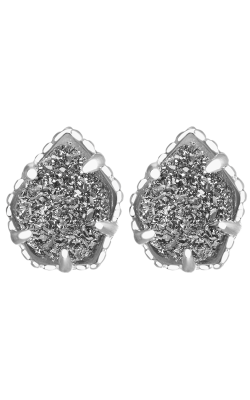 Kendra Scott Earrings Tessa Rhodium Platinum Drusy product image