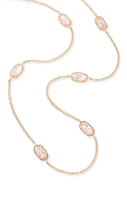 Kendra Scott Necklaces Kellie Gold Rose Quartz product image