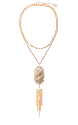 Kendra Scott Necklaces Rayne Rose Gold Brown MOP product image