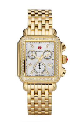Signature Deco Gold Diamond, Diamond Dial Watch