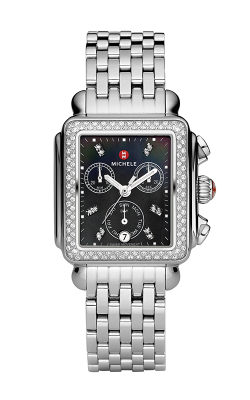 Signature Deco Diamond, Black Diamond Dial Watch