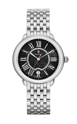 Serein Mid, Black Diamond Dial Watch