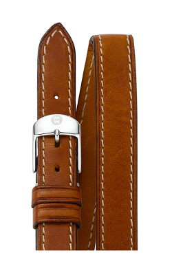 Michele 18mm Saddle Calf Skin Double Wrap Strap MS18BX270216