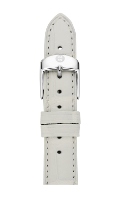 Michele 16mm White Alligator Strap MS16AA010100