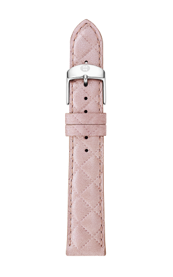Michele 16mm Pearl Pink Quilted Leather Strap MS16AA370748