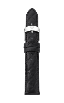 Michele 16mm Black Quilted Calfskin Leather Strap MS16AA370001