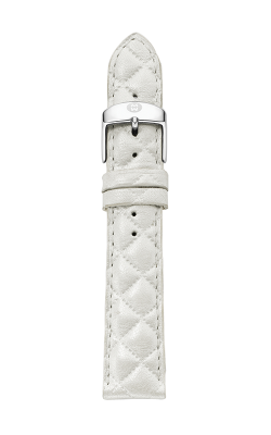 Michele 20mm Whisper White Quilted Leather Strap MS20AB370156