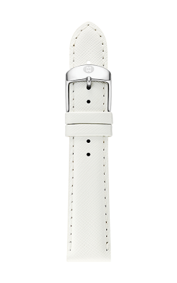Michele 20mm White Saffiano Strap MS20AB060151