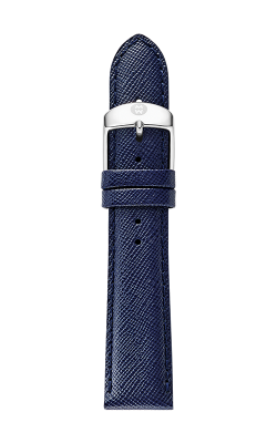 Michele 20mm Navy Blue Saffiano Strap MS20AB060400
