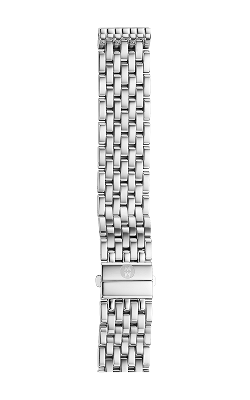 Michele 16mm Deco Mid 7-Link Stainless Steel Bracelet MS16DM235009