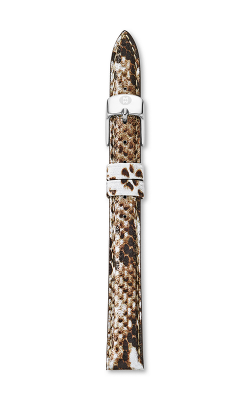 Michele 12mm Snake Print Leather Strap MS12AA060246