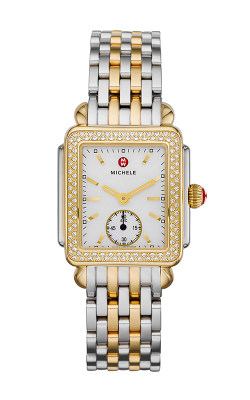 Michele Deco 16 Two Tone Diamond, Diamond Dial Watch