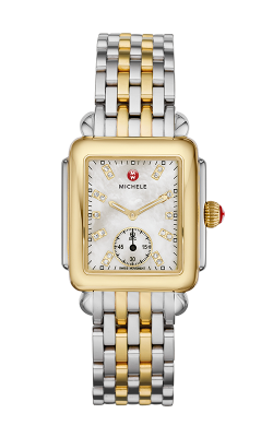 Michele Deco Mid Two-Tone, Diamond Dial Watch