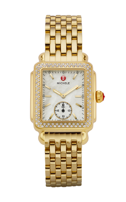 Michele Deco Mid Diamond Gold Watch