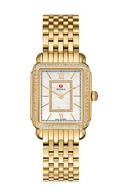 Michele Deco II Mid Diamond Gold, Diamond Dial Watch