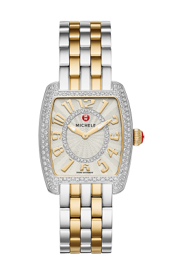 Michele Urban Mini Diamond Two Tone, Diamond Dial Watch