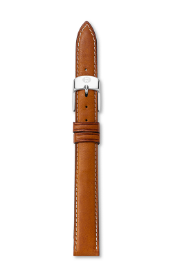 Michele 12MM Saddle Calfskin Strap MS12AA270216