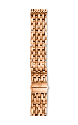 Michele 16MM Deco Mid 7-Link Rose Gold Bracelet MS16DM267715