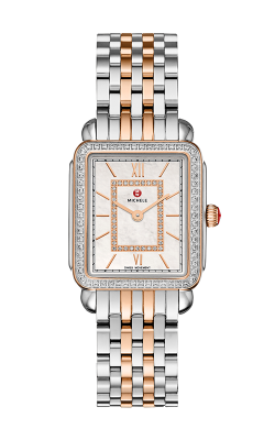 Deco II Mid Diamond Rose Gold Two-Tone, Diamond Dial