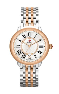 Michele Serein Mid Two-Tone Rose Gold, Diamond Dial Watch product image
