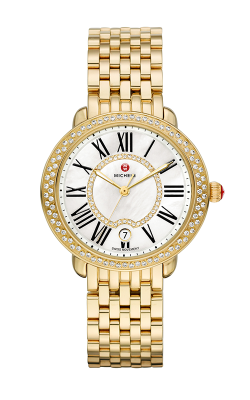 Michele Serein Mid Diamond Gold, Diamond Dial Watch