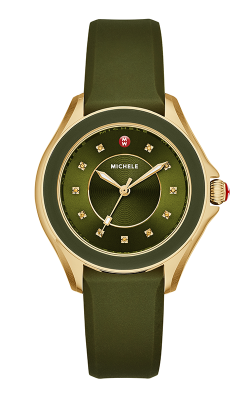 Michele Cape Topaz Green, Gold Tone Watch product image