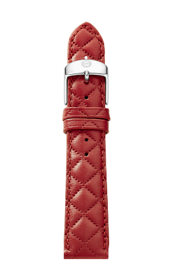 Michele 20MM Red Quilted Leather Strap MS20AB370600