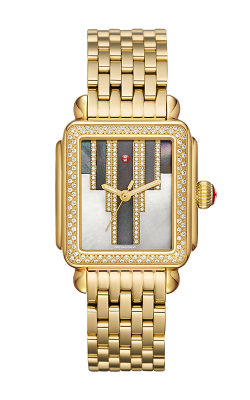 Michele Deco Skyline Diamond Gold, Cocoa Diamond Dial