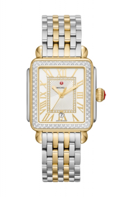 Michele Deco Madison Diamond Two-Tone, Diamond Dial Watch