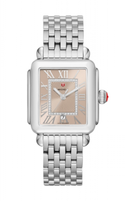 Michele Deco Madison Beige, Diamond Dial Watch